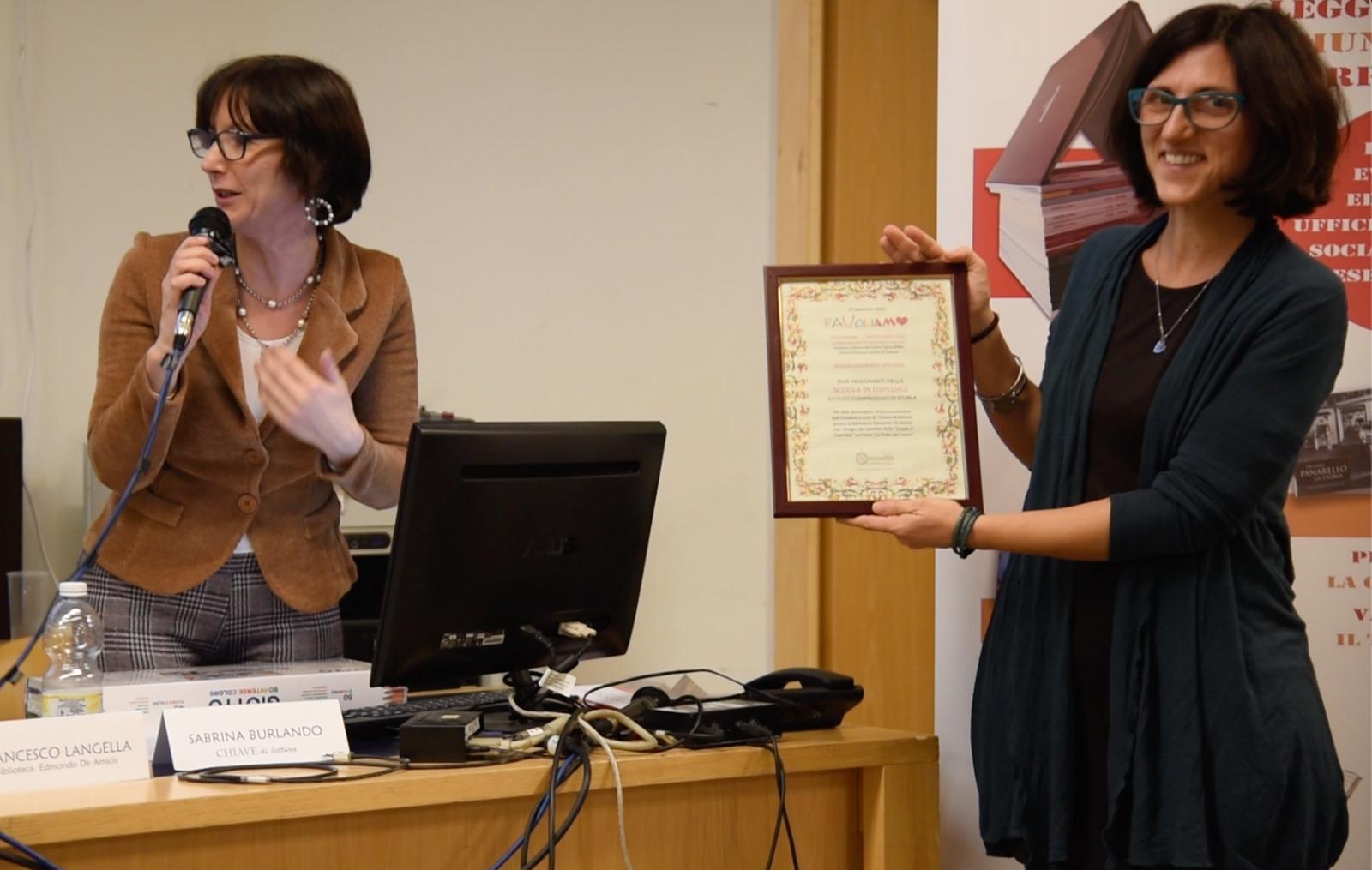 Diploma  Favoliamo  alle maestre