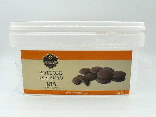 Bottoni di cacao 55% 2.5kg