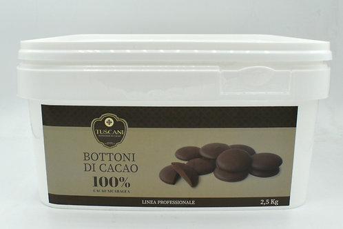 Bottoni di cacao 100% 2.5kg