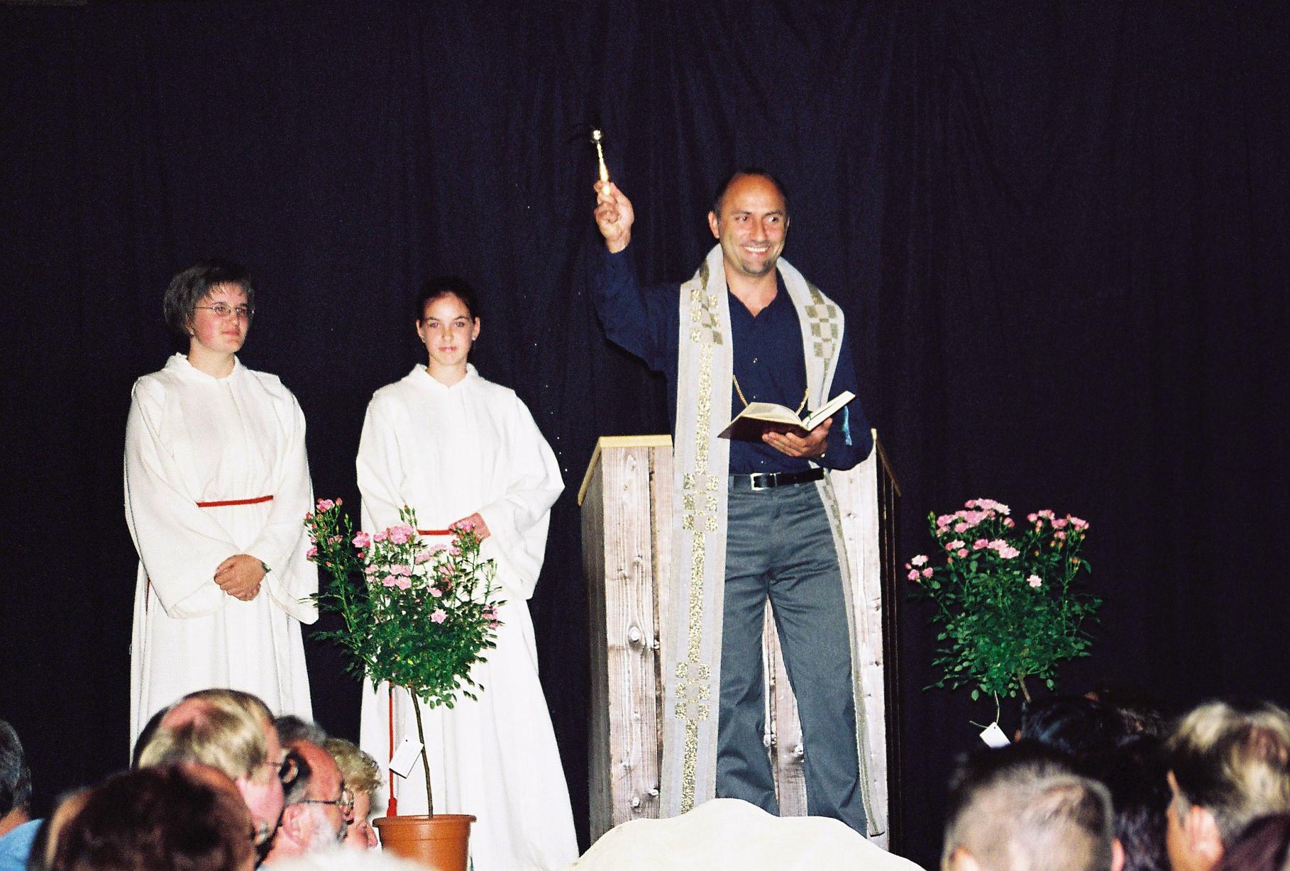 Segnung durch Herrn Pfarrer Reinsch
