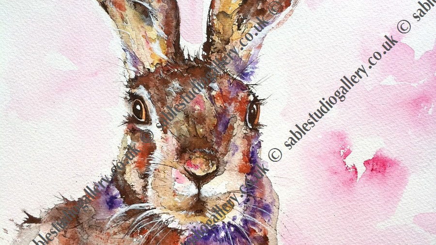 Hare giclee limited edition Print