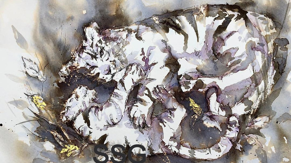 Tiger and Cub limited edition giclee print