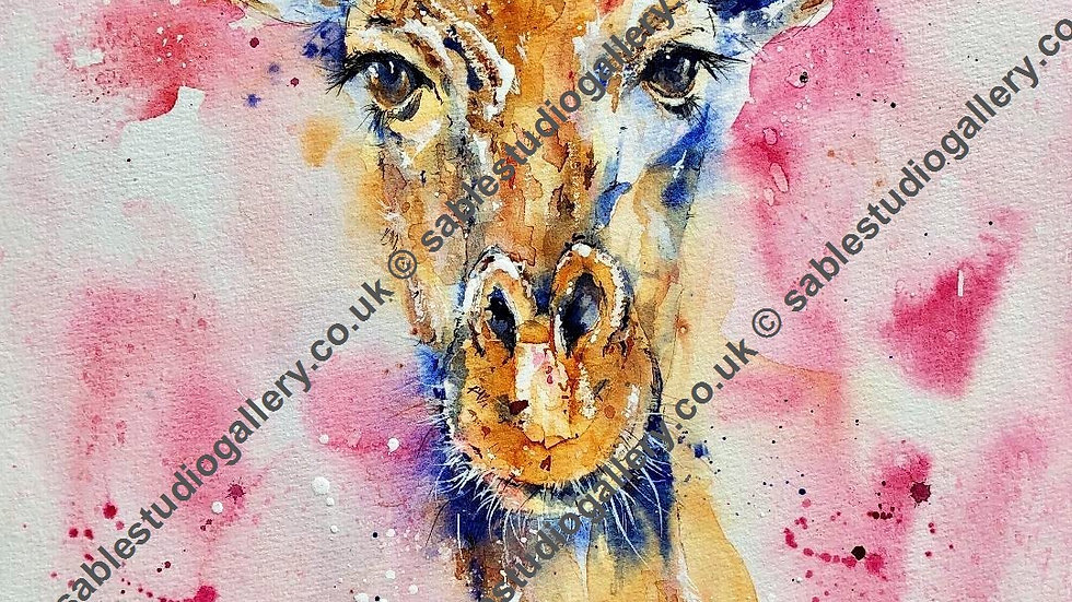 Geri Giraffe - giclee limited edition print