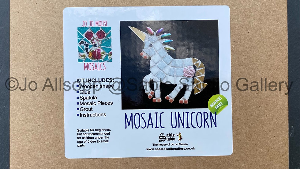 Mosaic Unicorn Craft Kit