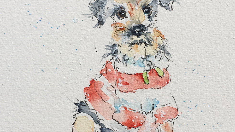 Border Terrier Christmas Cards Pack 5 mix of 5 different designs