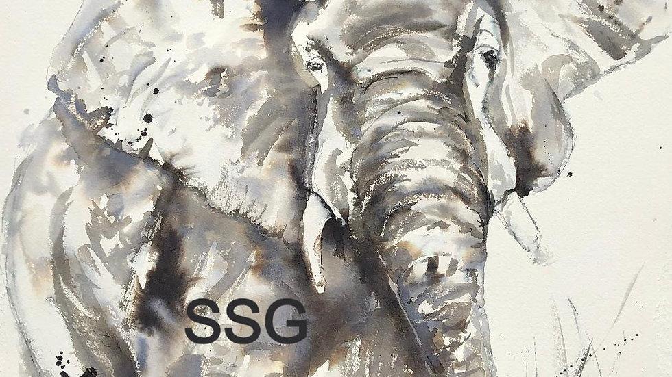 Original Elephant Painting