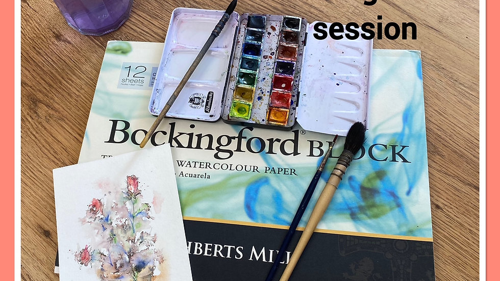 A start with art - painting session 12 June