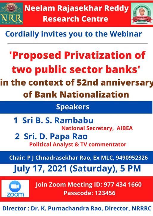 Webinar on Banks' Privatization
