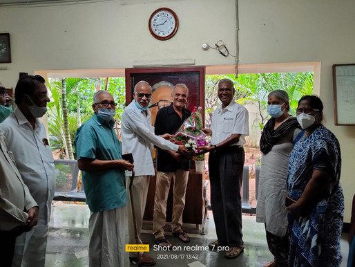 D. Raja visits CR Foundation