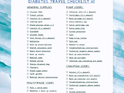 Diabetes Travel Checklist