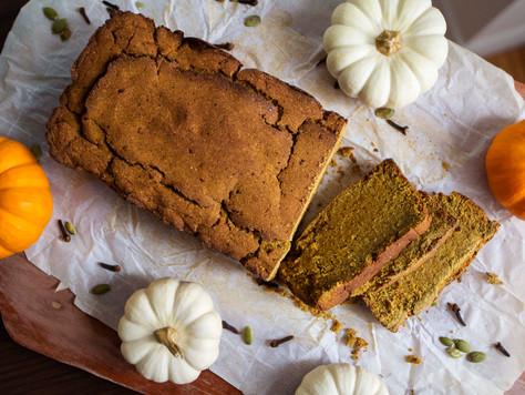 Low Carb, High Protein, Vegan Pumpkin Loaf