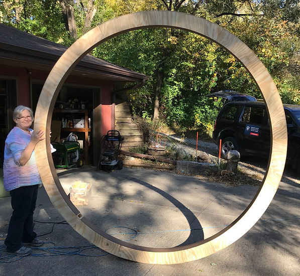 finished observatory dome base ring