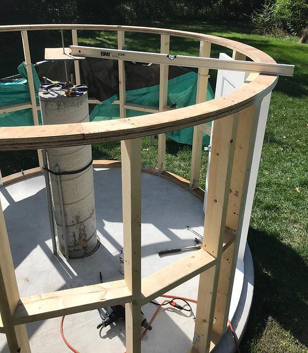putting observatory silo on the slab