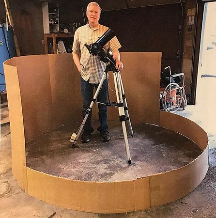 cardboard mock-up of observatory