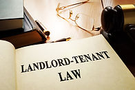 Landlord-tenant law on an office table..