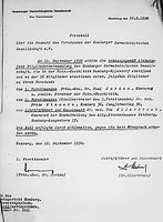 Protokoll über die erste Geschäftsordnungssitzung nach 1945