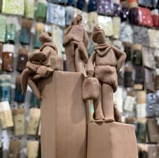 Busy Gals  - unfired