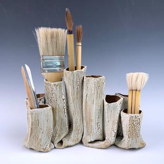 Crackle Tube Vase