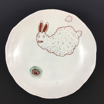 Cloud Rabbit Plate