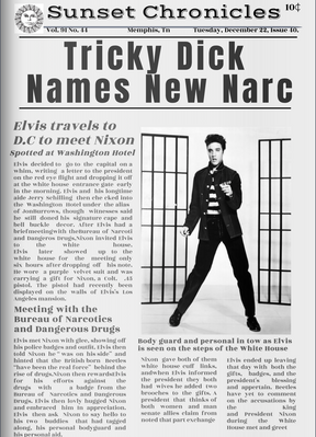 Newspaper for Elvis has Lefted the Building - Alterative Headline