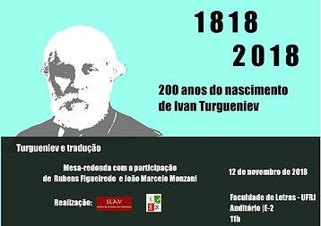 Cartaz mesa-redonda_Turgueniev_200 anos.