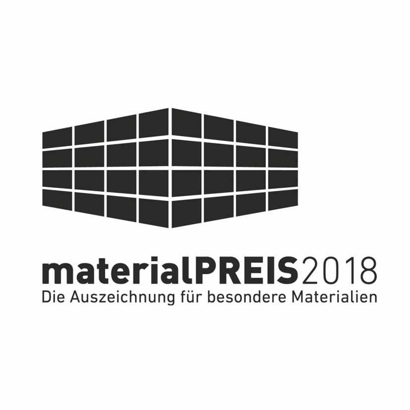 Das Logo für den Materialpreis für besondere Matreialien 2018