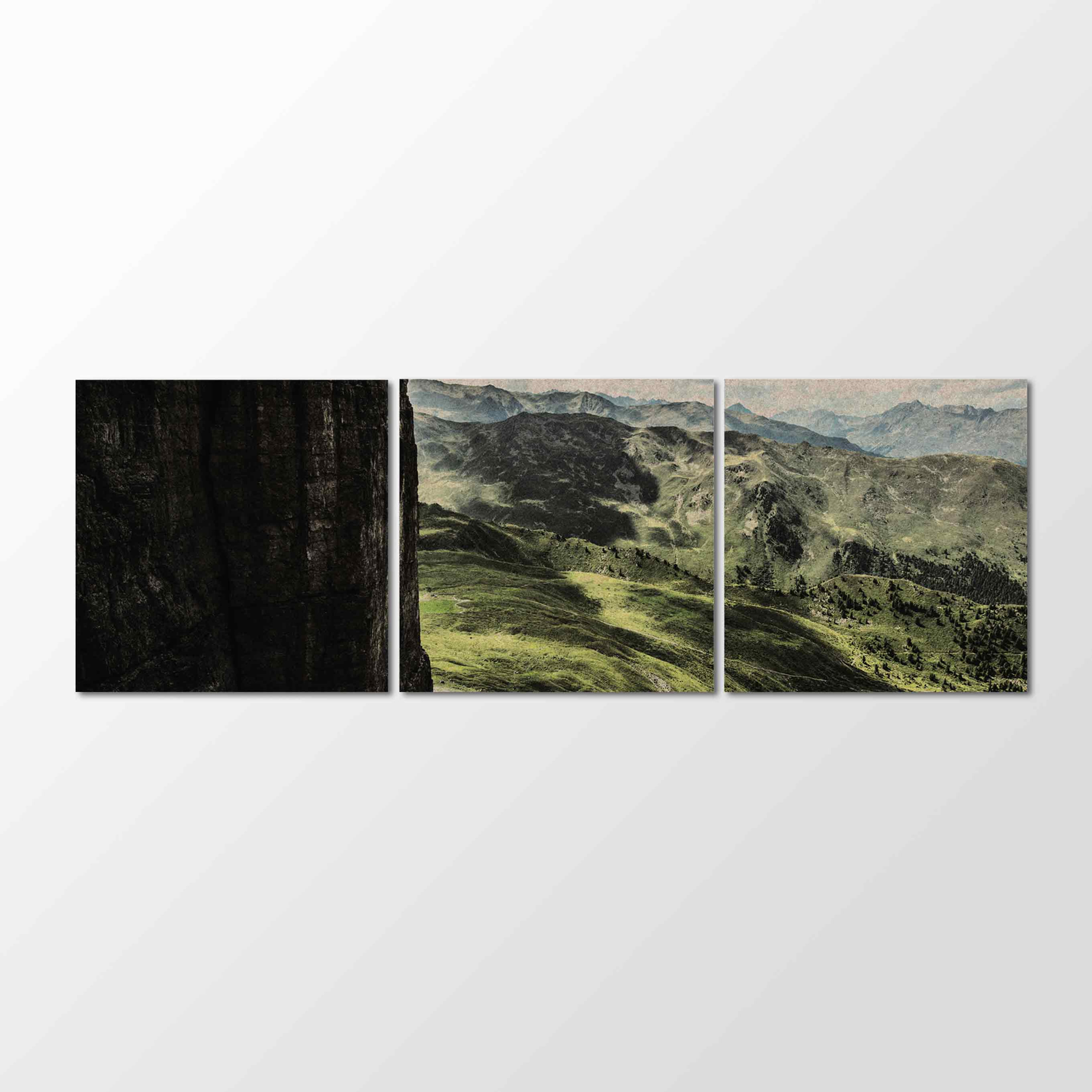 Whisperwool Akustikbild PPHILIPP Sellrainer Berge Panorama auf 3