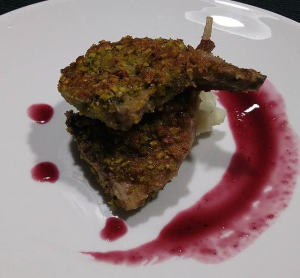 pistachio crusted lamb