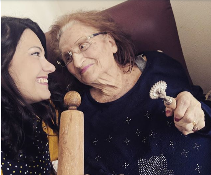 Chef Elena D'Agostino with her Nonna