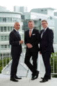 Dr. Jens Baas, Thomas Ballast, Frank Storsberg Vorstands der Techniker Krankenkasse.