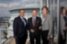 Dr. Jens Baas, Thomas Ballast, Karen Walkenhorst Vorstands der Techniker Krankenkasse.