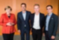 Angela Merkel,  Andreas & Fabian Friese, Phillip Lahm