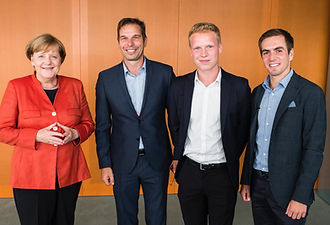 Angela Merkel,  Andreas & Fabian Friese, Phillip Lahm