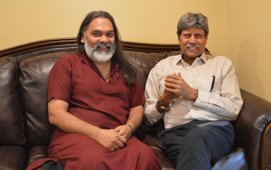 Bhavin Shastri with Kapil Dev