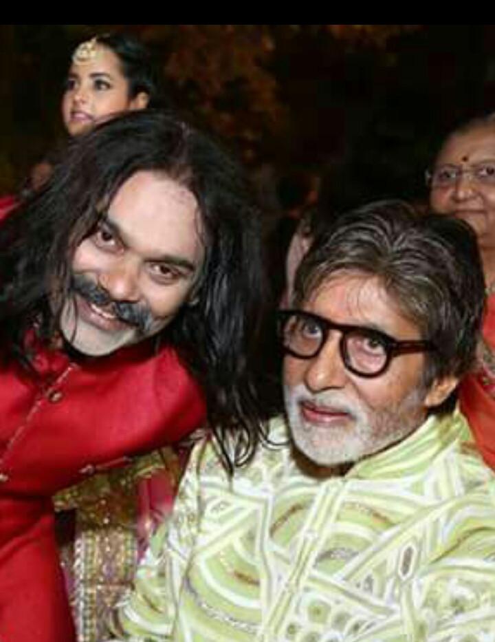 Bhavin Shastri with Amitabh Bachchan