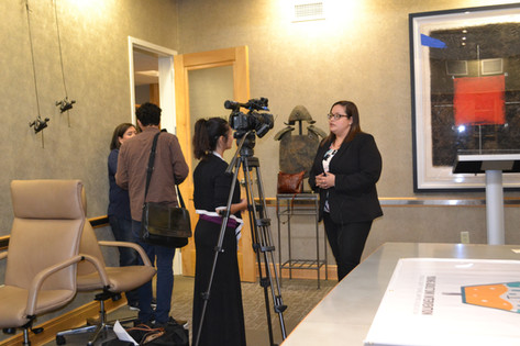 Lauren Sepulveda being interviewed about HCYLA's YADI Project