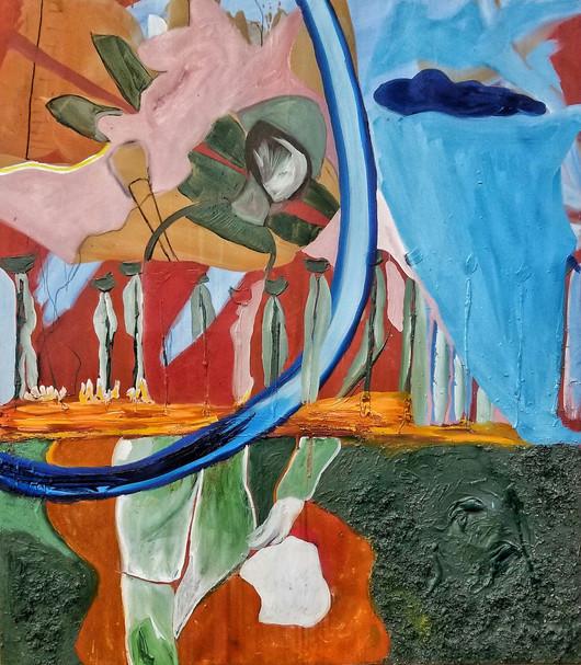 Efrath Bouana, L'etranger (הזר), 150x170 cm 2021