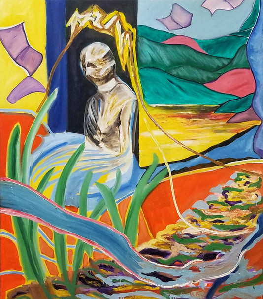 Efrath Bouana, L'étranger (הזר)130x170 cm,2021