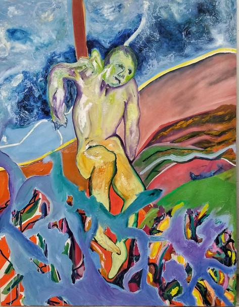 Efrath Bouana, L'étranger (הזר)130x170 cm,  2021