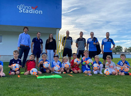 Förderverein unterstützt F-Jugend mit Trainingsmaterialien