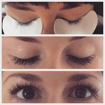 A set of eyelashes