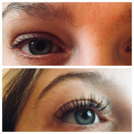Before and after photo lashes