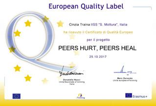 eTwinning: label Europeo ad un gruppo di alunni del Mottura