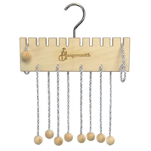 Hangersmith MINI Hanger, 10 Gentle Loops - Scarf hanger, Bag organiser, Belt rac