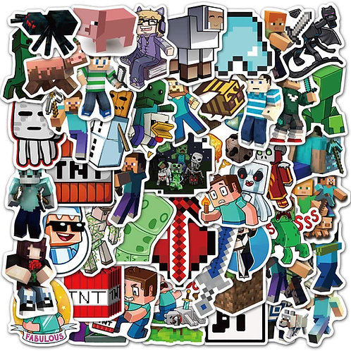 Minecraft Waterproof Stickers (50 pcs)