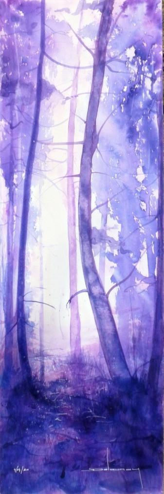 Forêt mauve