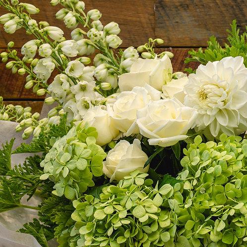 WHITE & GREEN - Florist's Choice Bouquet