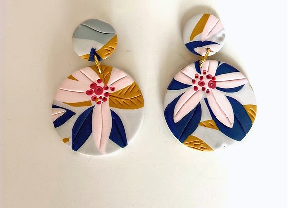 Feeling Floral Large Round Dangle