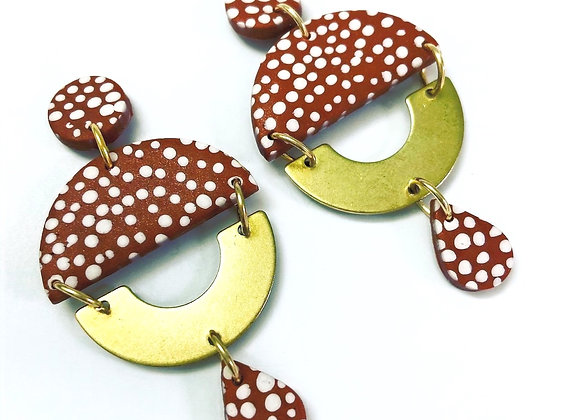 Terracotta dotty dangle