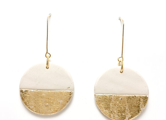 Cream and gold dusted dangle spheres